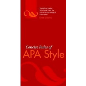 Concise Rules of APA Style 6E
